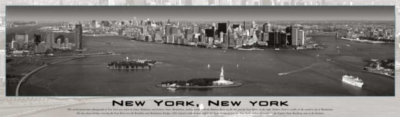 New York City, New York (Black and White) - 750pc Panoramic Jigsaw Puzzle By Buffalo Games