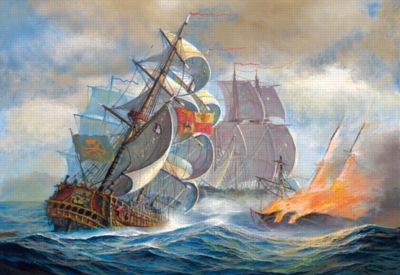 Naval Battle - 500pc Jigsaw Puzzle by Castorland