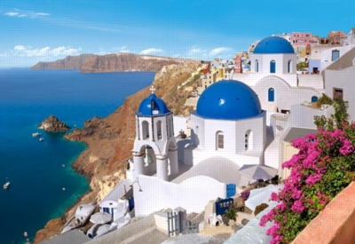 Santorini, Greece - 1500pc Jigsaw Puzzle by Castorland