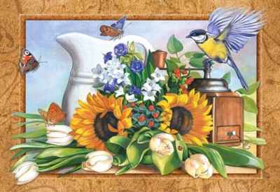 Still life with Sunflowers - 500pc Jigsaw Puzzle by Castorland