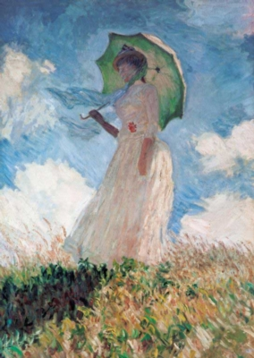 Monet: Lady with the Umbrella - 1000pc Jigsaw Puzzle By Clementoni