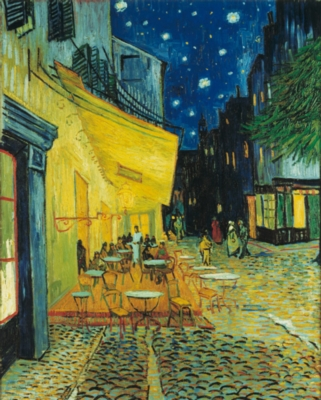 Cafe Terrace at Night - 1000pc Jigsaw Puzzle By Clementoni