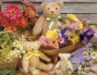 Teddy Bear Basket - 350pc Large Format Jigsaw Puzzle by Springbok