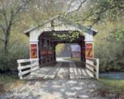 The Covered Bridge - 1000pc Coca-Cola Jigsaw Puzzle by Springbok