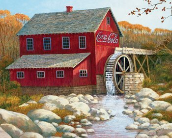 The Old Grist Mill - 1500pc Coca-Cola Jigsaw Puzzle by Springbok