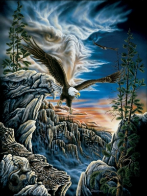 10 Eagles - 500pc Jigsaw Puzzle by Sunsout