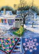 Amish Winter - 500pc Large Format Jigsaw Puzzle by Sunsout