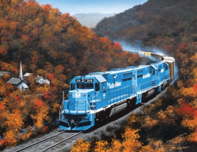 Autumn on the Boston Maine - 1000pc Large Format Jigsaw Puzzle by Sunsout