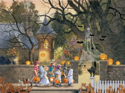 Friends on Halloween - 1000pc Jigsaw Puzzle by Sunsout