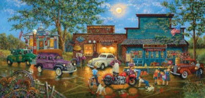 New Bike in Town - 1000pc Jigsaw Puzzle by Sunsout
