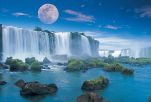 Iguazu Falls - 550pc Jigsaw Puzzle By Great American Puzzle Factory