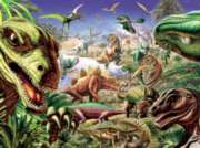 Dinoland - 400pc Family Style Jigsaw Puzzle For Kids By Cobble Hill
