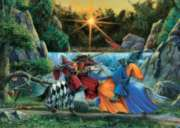 Sir Lancelot Meets Sir Tarquine - 1000pc Jigsaw Puzzle by Cobble Hill