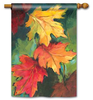 Fall Leaves- Standard Flag by Magnet Works