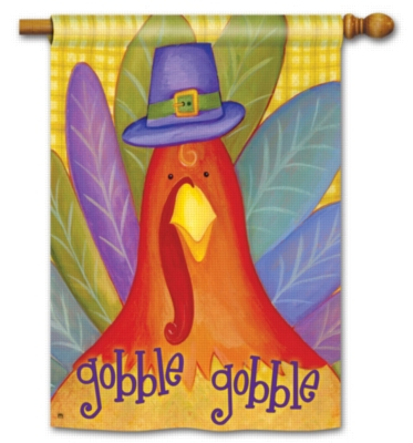 Gobble Gobble- Standard Flag by Magnet Works