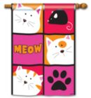 Meow- Standard Flag by Magnet Works