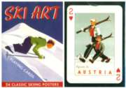 Ski Art - Playing Cards
