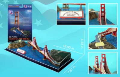 3D Puzzles - Golden Gate Bridge