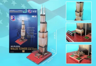 Willis Tower (aka Sears Tower) - 51pc 3D Jigsaw Puzzle by Daron