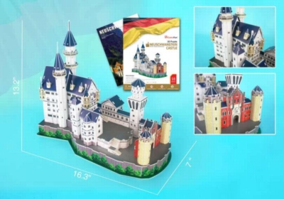 Neuschwanstein Castle - 98pc 3D Jigsaw Puzzle by Daron
