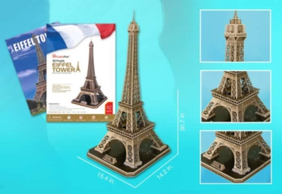 Eiffel Tower - 82pc 3D Jigsaw Puzzle by Daron