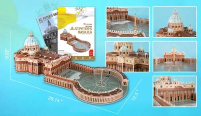 St. Peter's Basilica - 144pc 3D Jigsaw Puzzle by Daron