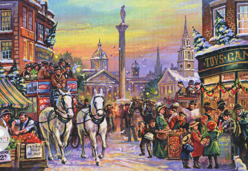 Christmas Carriage - 1000pc Jigsaw Puzzle by Falcon