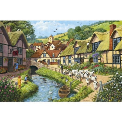 Country Village - 1000pc Jigsaw Puzzle by Falcon