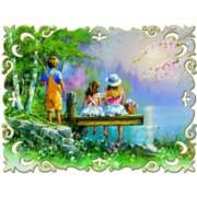 Fishing with Friends - 1000pc Jigsaw Puzzle by Jumbo