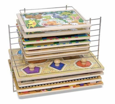 Deluxe Wire Puzzle Rack - Jigsaw Puzzle Storage Accessory By Melissa and Doug