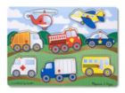 Vehicles - 8pc Wooden Peg Puzzle By Melissa & Doug