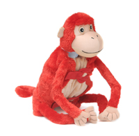 "Baby Mashaka (Plush / Pillow / Blanket) - 17"" Monkey by Zoobie Pets"