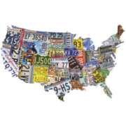 Make The States with License Plates - 1000pc TDC Shaped Jigsaw Puzzle