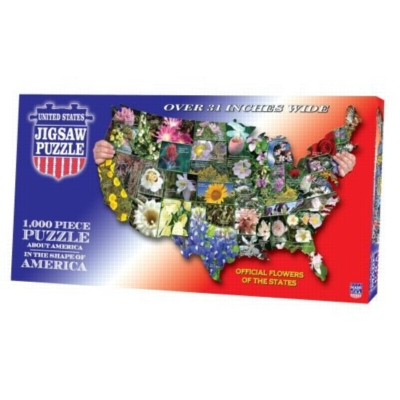 Official Flowers of the States - 1000pc TDC Shaped Jigsaw Puzzle