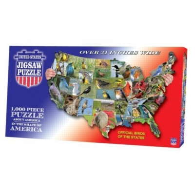 Official Birds of the States - 1000pc TDC Shaped Jigsaw Puzzle