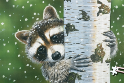 Peekaboo Raccoon - 234pc TDC Miniature Jigsaw Puzzle