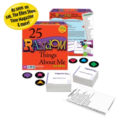 25 Random Things About Me - Board Game