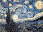 Starry Night By Vincent Van Gogh - 1000pc Photomosaic Jigsaw Puzzle by Buffalo Games