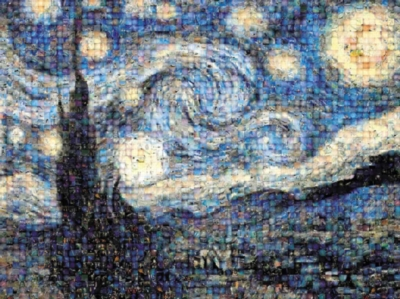 Photomosiac Jigsaw Puzzles - Starry Night By Vincent Van Gogh