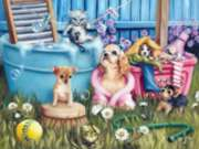 Suds N Pups - 300pc Large Format Jigsaw Puzzle by Sunsout