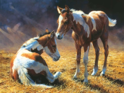 Stable Companions - 300pc Large Format Horse Jigsaw Puzzle by Sunsout
