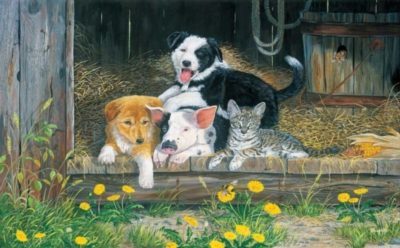 Best of Friends - 300pc Large Format Jigsaw Puzzle by Sunsout