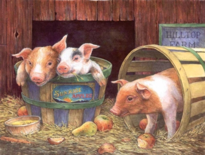 Three Pigs - 500pc Jigsaw Puzzle By Sunsout