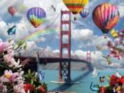 Golden Gate Balloons - 500pc Jigsaw Puzzle By Sunsout