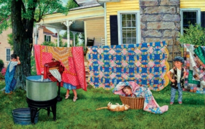 Hide N Quilt - 550pc Jigsaw Puzzle By Sunsout