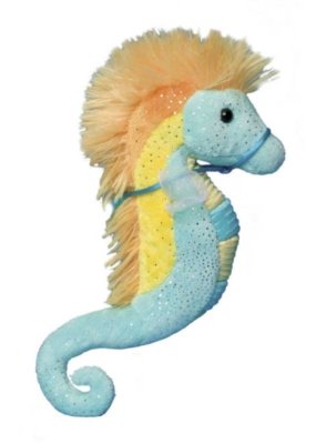 Turquoise and Yellow - 9'' Seahorse By Douglas Cuddle Toys