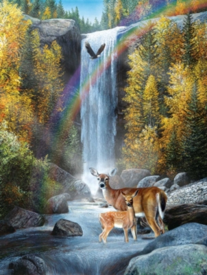 Rainbow Setting - 500pc Jigsaw Puzzle By Sunsout