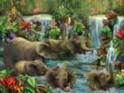 Baby Elephant Pool - 500pc Jigsaw Puzzle By Sunsout
