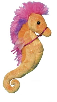 Tangerine and Pink - 9'' Seahorse By Douglas Cuddle Toys