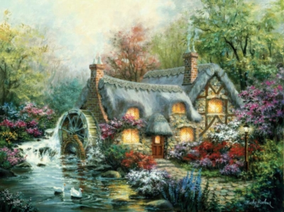 Cottage Mill - 1000pc Jigsaw Puzzle By Sunsout